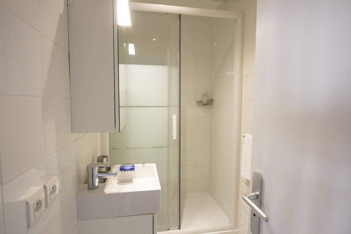 bathroom sliding shower door