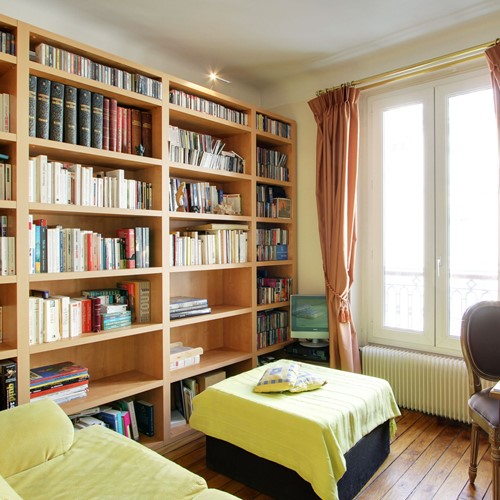 Upstairs Library Room With Small Sofa Bed