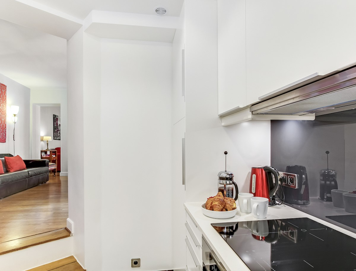 View from Kitchen to dining area