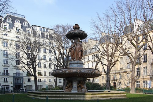 The fountain in nearby square
